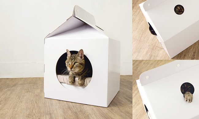 Milk Box Pet House