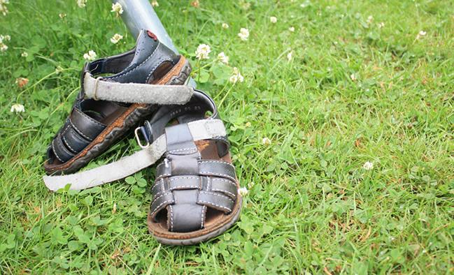 natte sandalen