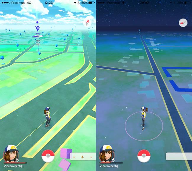 Pokemon stad versus platteland