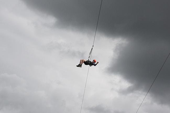 Mats aan de zipline