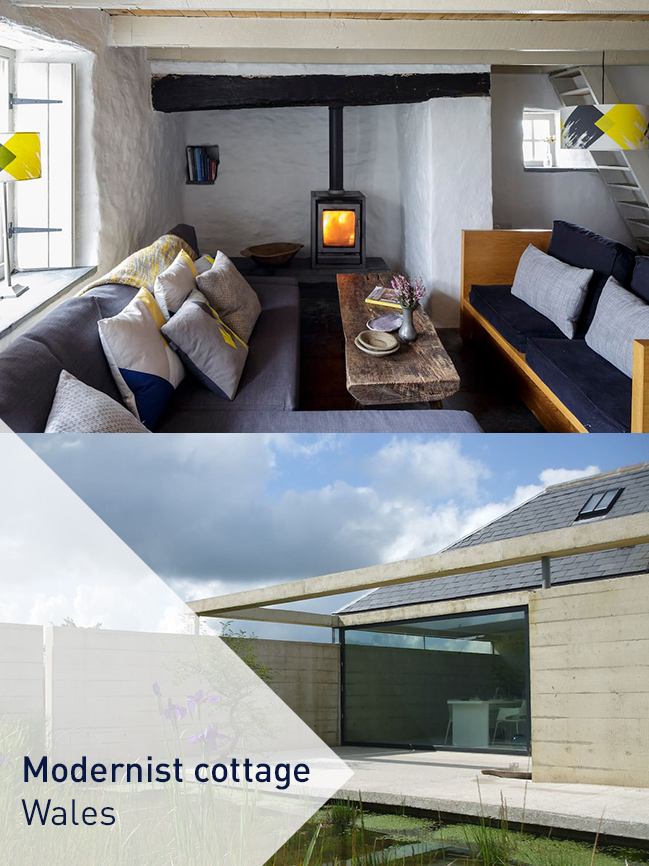 modernist cottage Wales